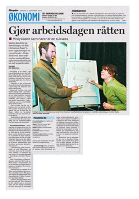Faksimile fra Aftenposten 04.12.2005