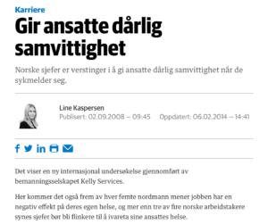 Faksimile Dagens Næringsliv, 02.09.2008